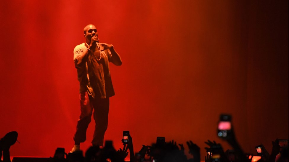 Kanye West performs on stage during The Meadows Music Arts Festival on 2 October 2016 in Queens, New York.