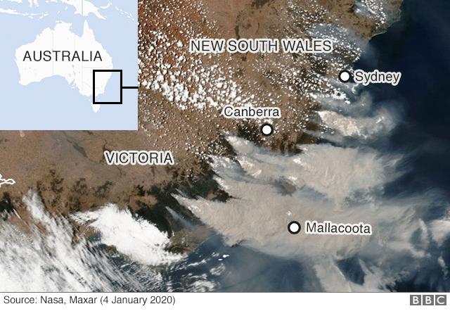 Satellite image 4 Jan 2020