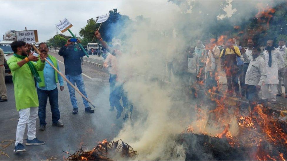 Protesters in Uttar Pradesh