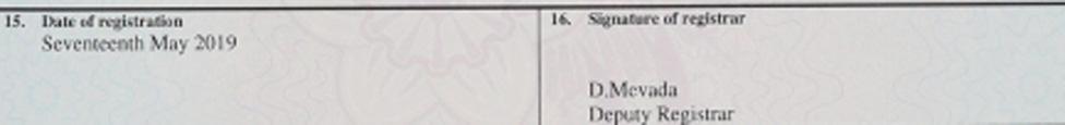 deputy signed birth certificate