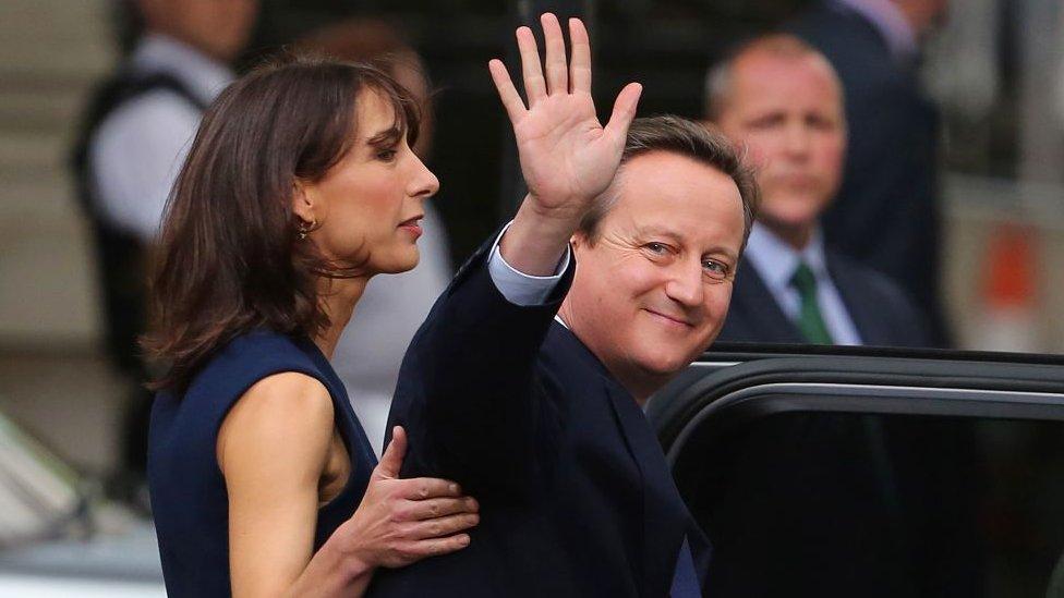 David and Samantha Cameron leaving office