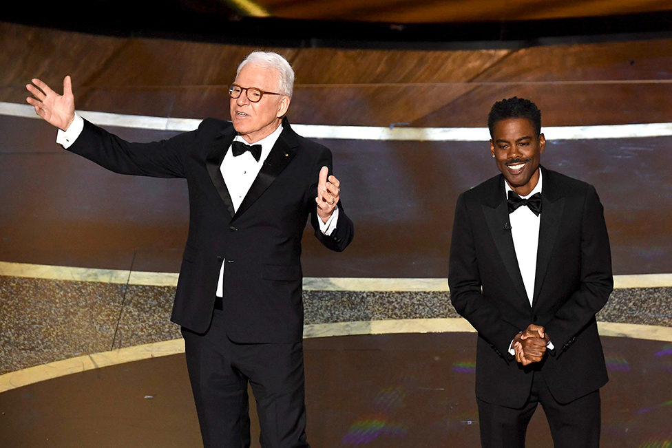 Steve Martin and Chris Rock en el escenario