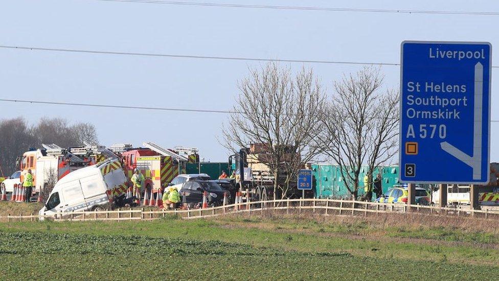 M58 crash: Wigan woman, 91, dies from injuries