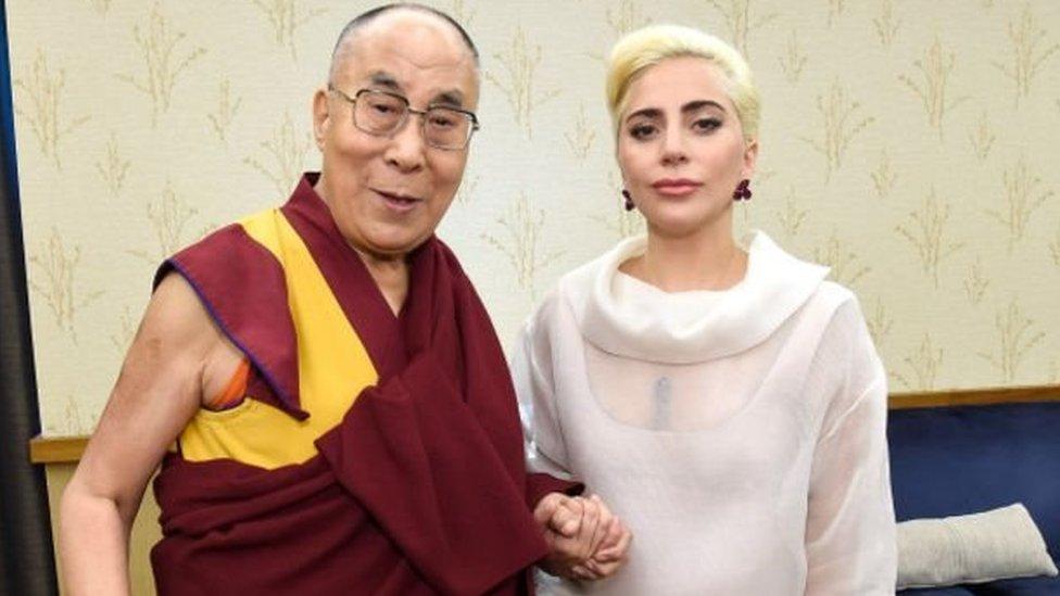 達賴喇嘛和嘎嘎小姐