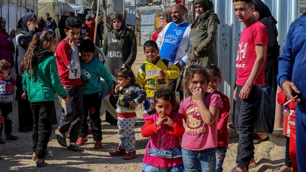 مهاجرون سوريون في لبنان