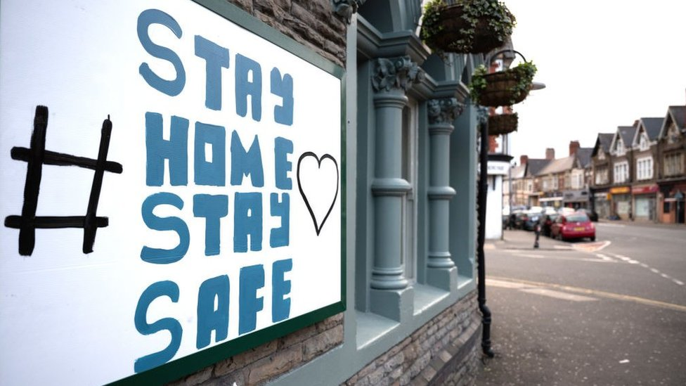 stay home stay safe message in Wales
