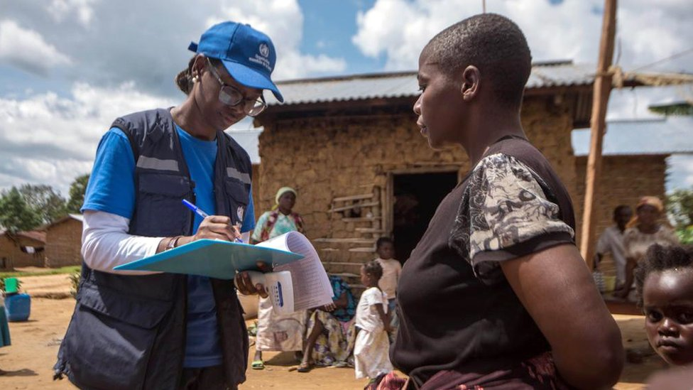 Marie Roseline Belizaire is pictured at work in the Democratic Republic of Congo