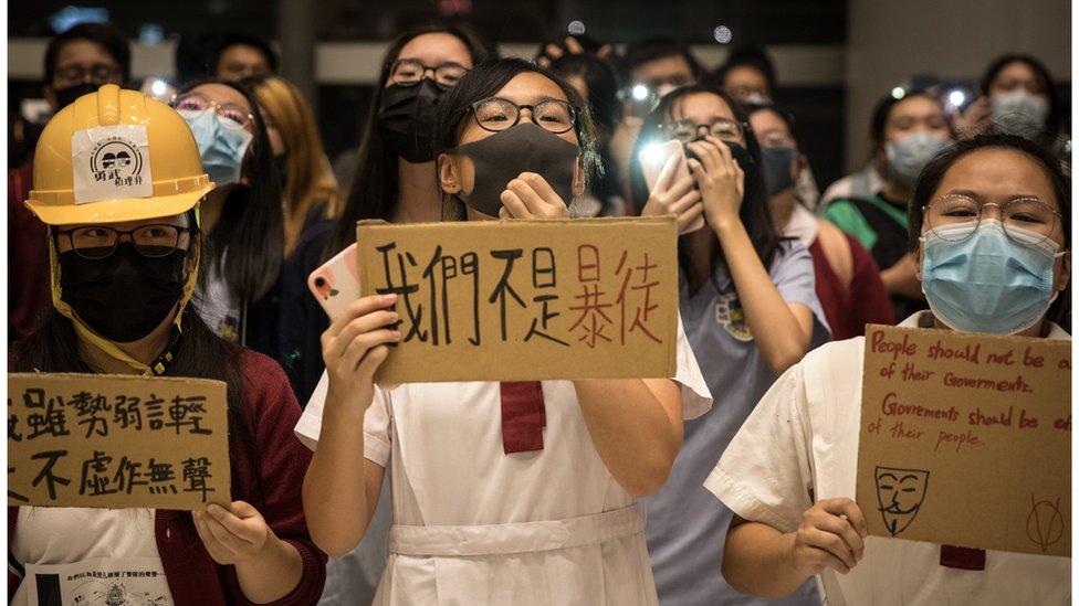 香港學生示威者(資料照片)