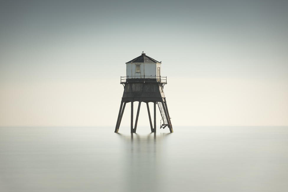 Old Victorian Lighthouse off the coast of Dovercourt, Essex