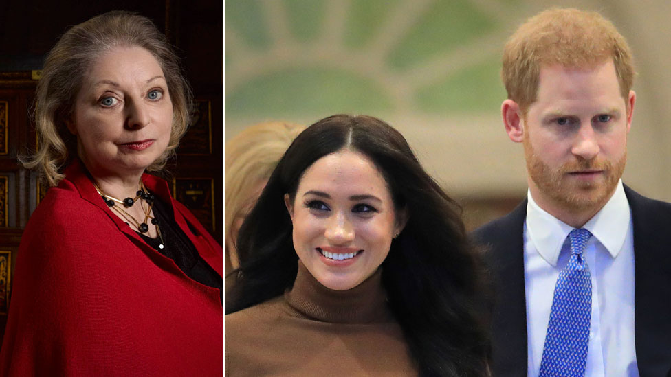 Hilary Mantel and the Duchess and Duke of Sussex