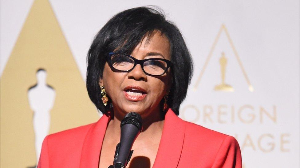 Academy President Cheryl Boone Isaacs speaks at the Oscars Foreign Language Film Award Reception, 20 February 2015