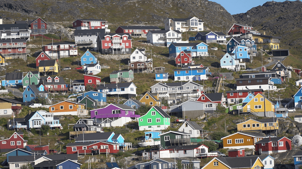 Kuće u Narsaku, južni Grenland `