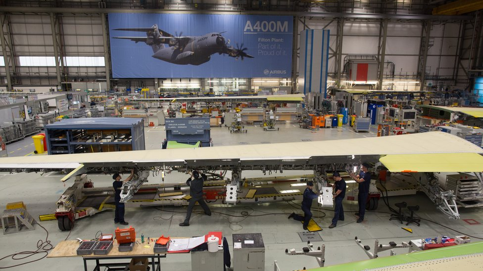Airbus factory at Filton in Bristol