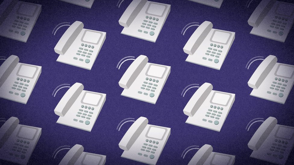 Ilustración de teléfonos