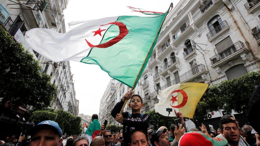 مظاهرة في عاصمة الجزائر، 13 آذار/مارس 2020