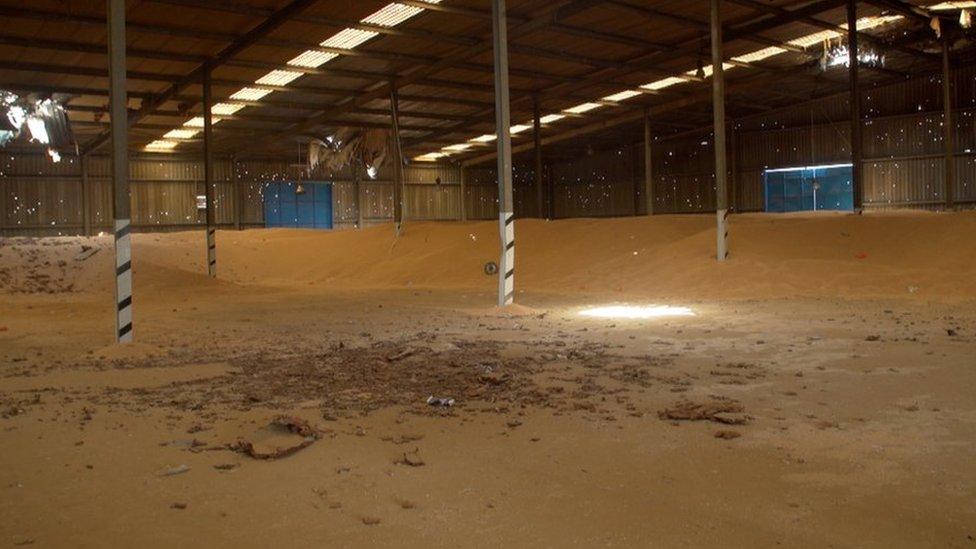 Empty granary in Yemen