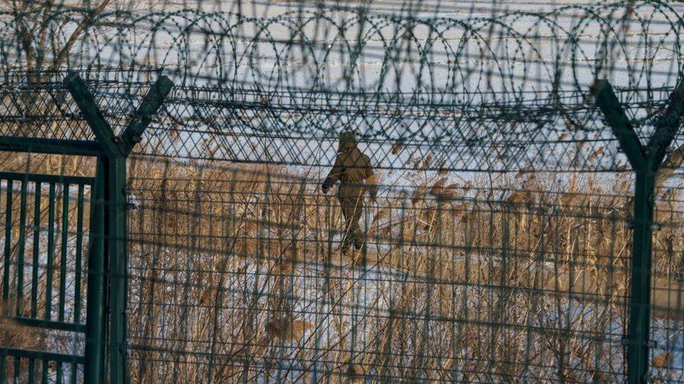 Las fronteras de Corea del Norte se encuentran estrechamente vigiladas.