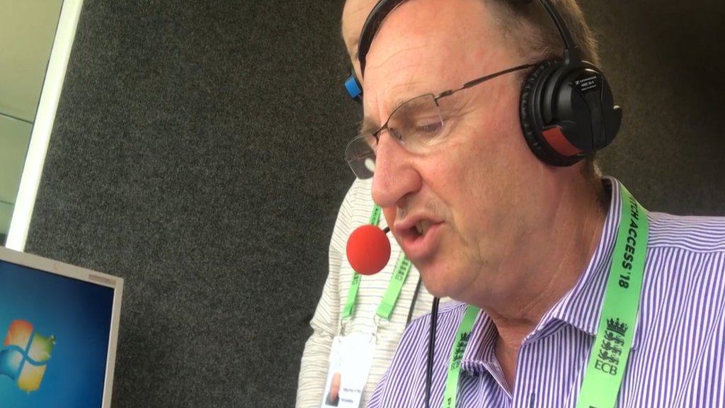 Watch: Jonathan Agnew reads email about Test Match Special fan's last hours
