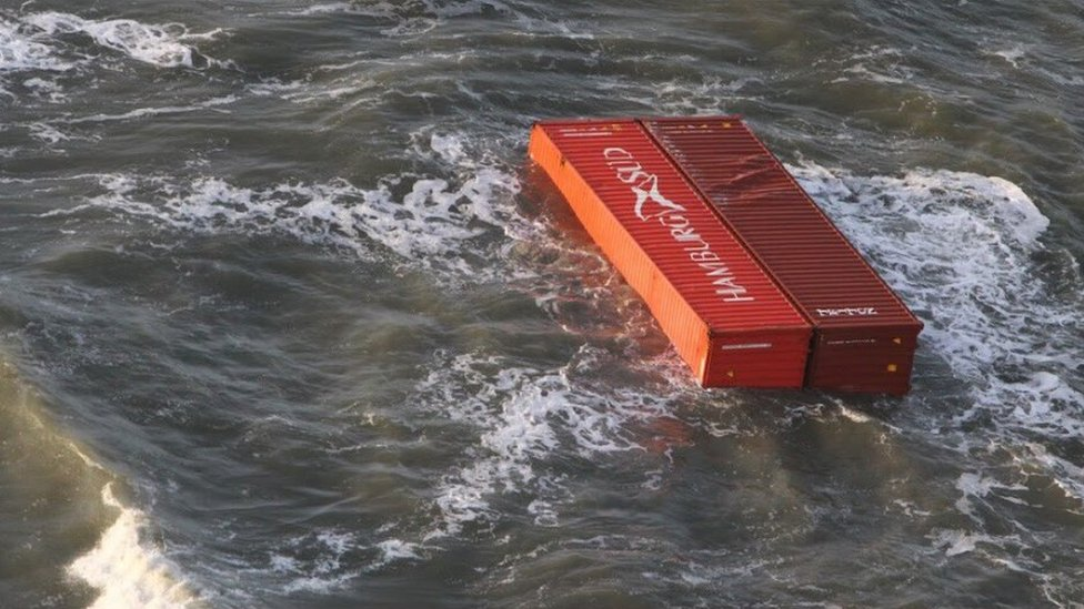 Containers in the Wadden Sea