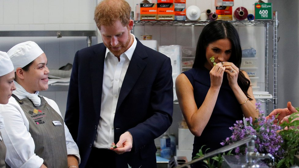 Prince Harry and Meghan at Charcoal Lane