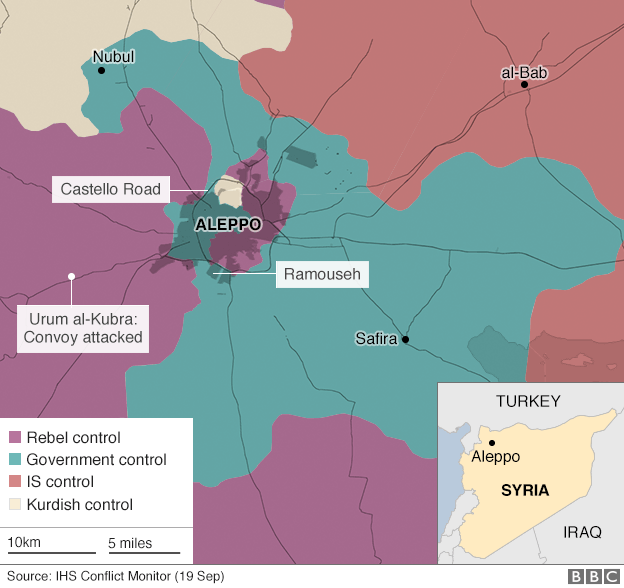 Aleppo and surrounding area map