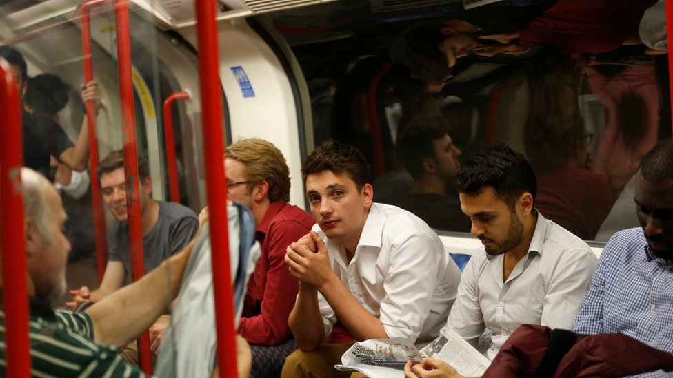 Passengers on the Night Tube