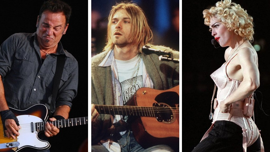Bruce Springsteen, Nirvana and Madonna