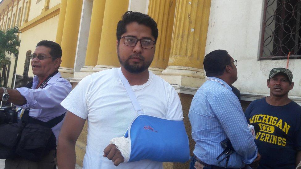 Roberto Siria, representante del Movimiento 19 de abril en Niquinohomo y exmilitante del FSLN.