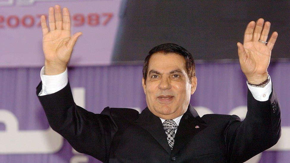 El expresidente de Túnez Ben Ali