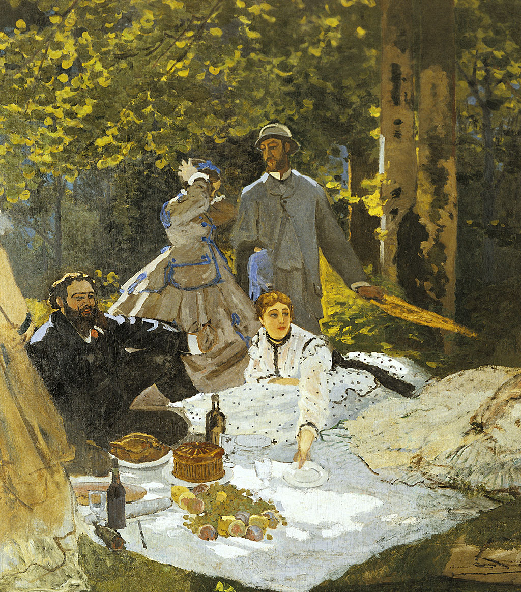 """""""Desayuno sobre la hierba"""", 1865, de Claude Monet (1840-1926)."""