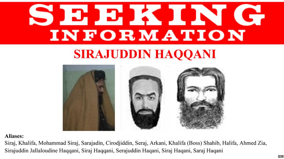 Imagen de los más buscados de la red Haqqani por el FBI.