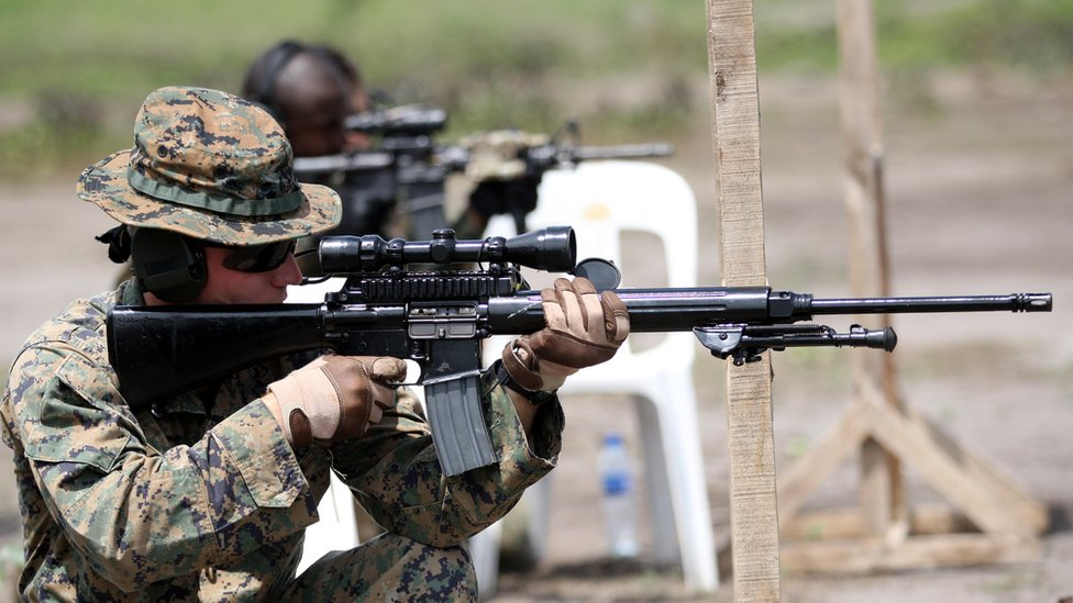 Navy Seal en entrenamiento.