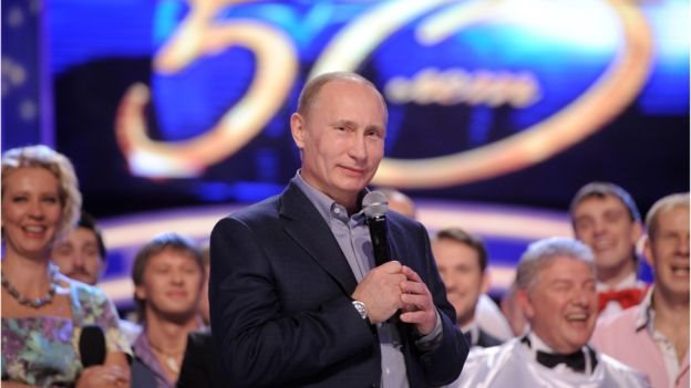 Generally apolitical, comedy TV show KVN has even been joined on stage by President Putin in person