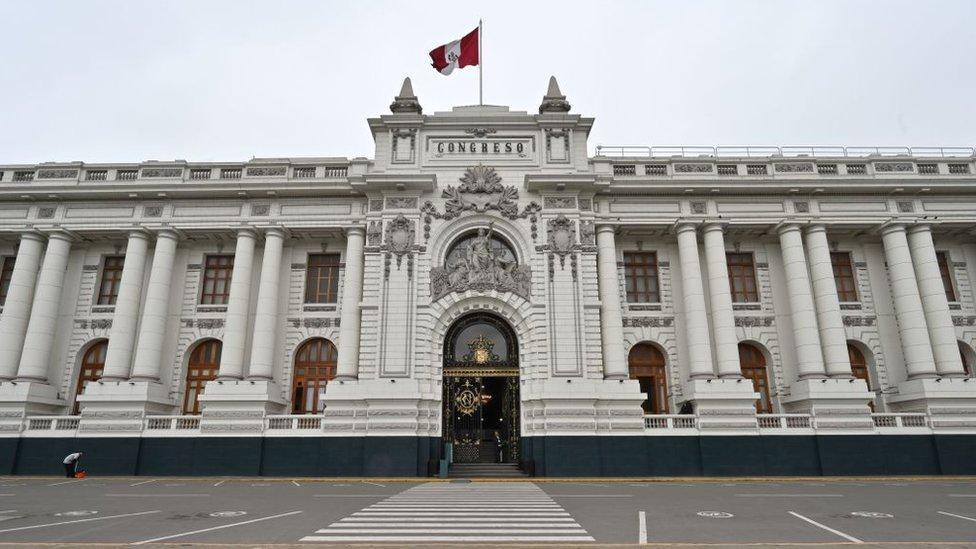 Fachada del Congreso de Perú