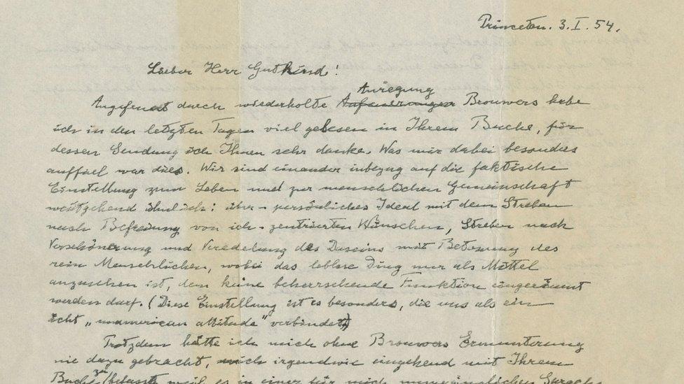 La carta de Einstein