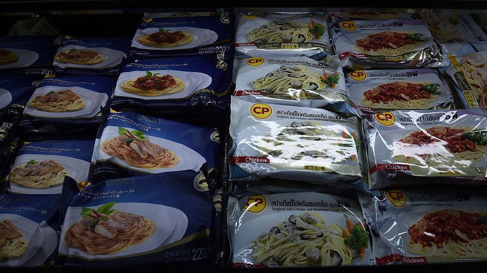 Packages of ready-to-eat meals