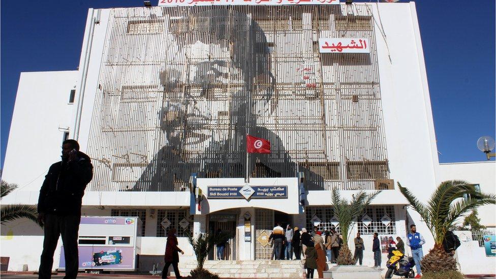 جدارية بوعزيزي في سيدي بوزيد