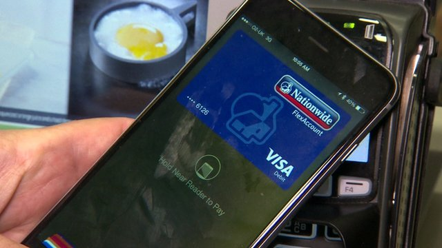 An iPhone being used to pay for goods