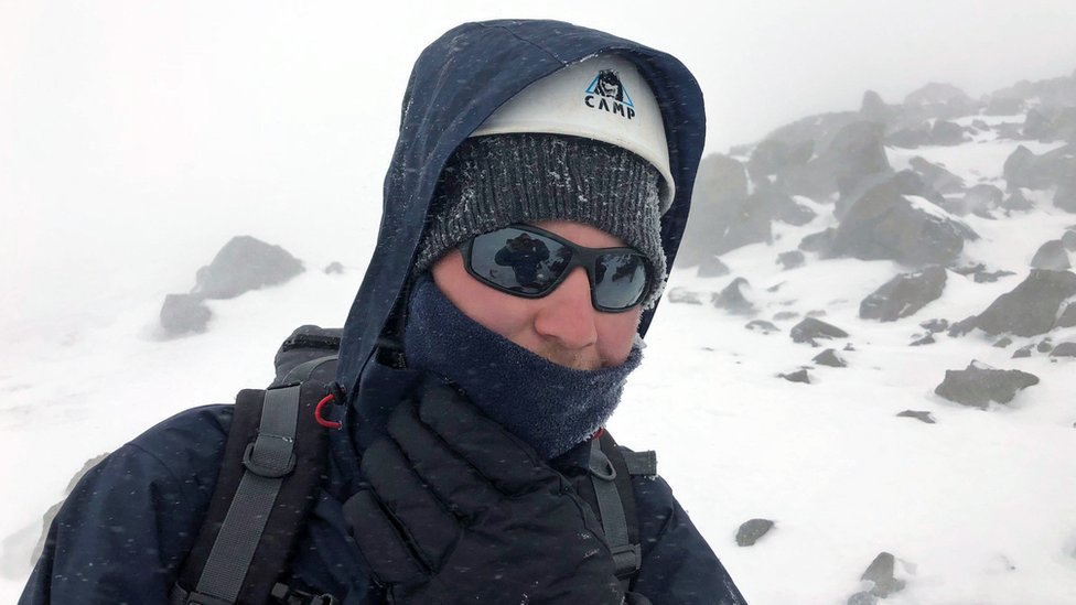 Blind British man climbs Europe's highest mountain