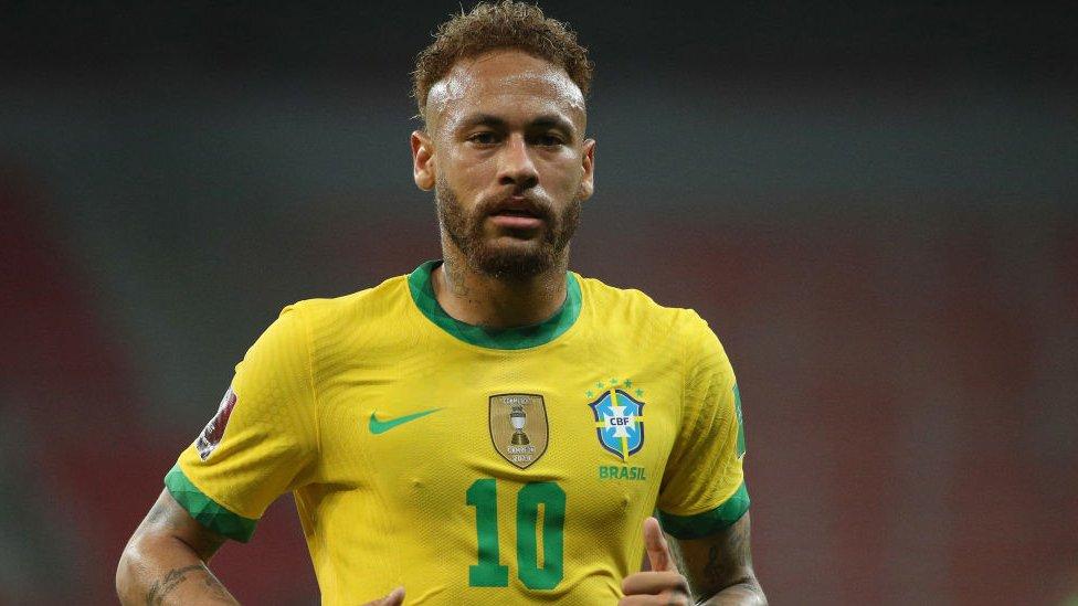 Neymar, futbolista de la selección brasileña.