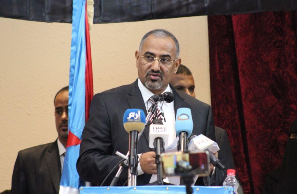 عيدروس الزبيدي رئيس المجلس الانتقالي المدعوم من الإمارات العربية المتحدة