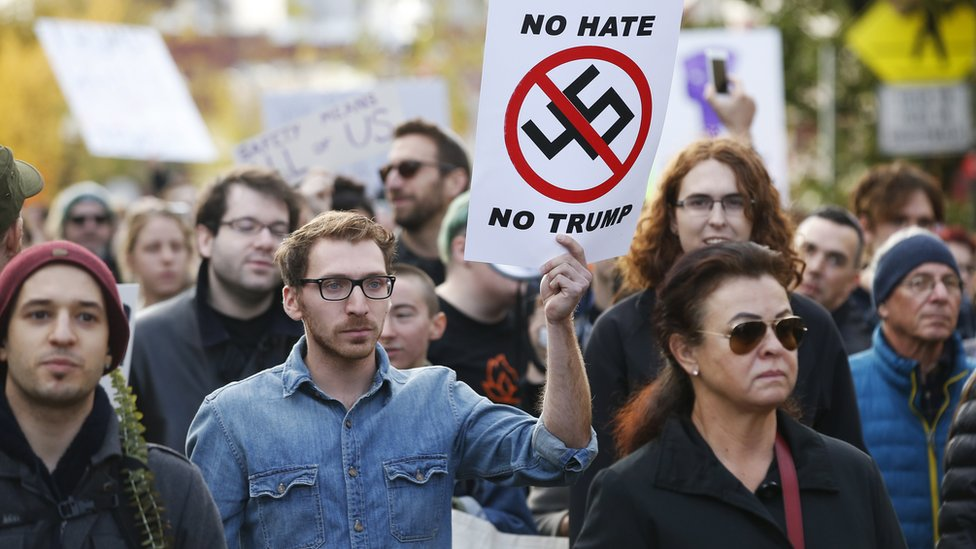 Protest protiv Trampa, Pensilvanija, 30. oktobar