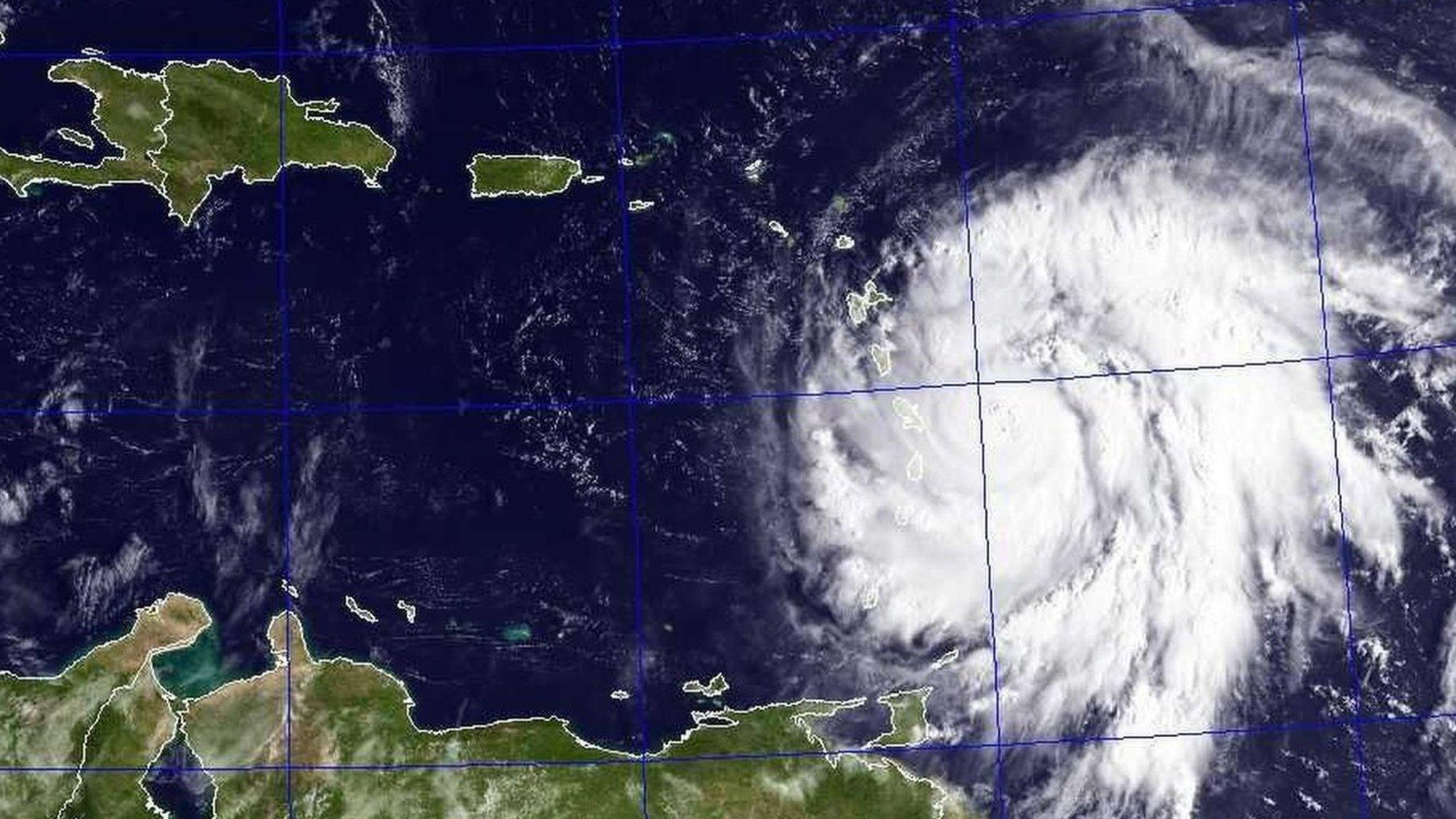 Hurricane Maria in the Caribbean
