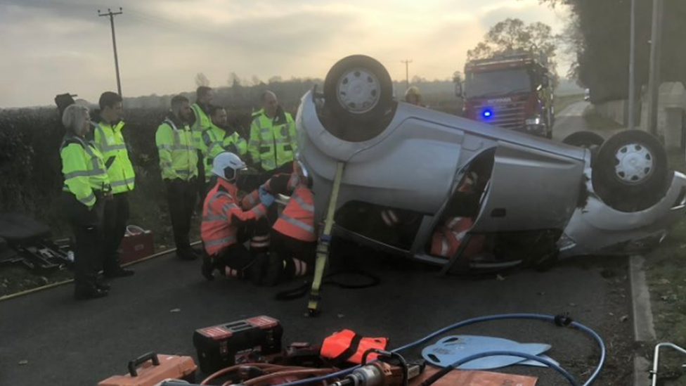 Marholm: Driver hit wall after being 'blinded by the sun'
