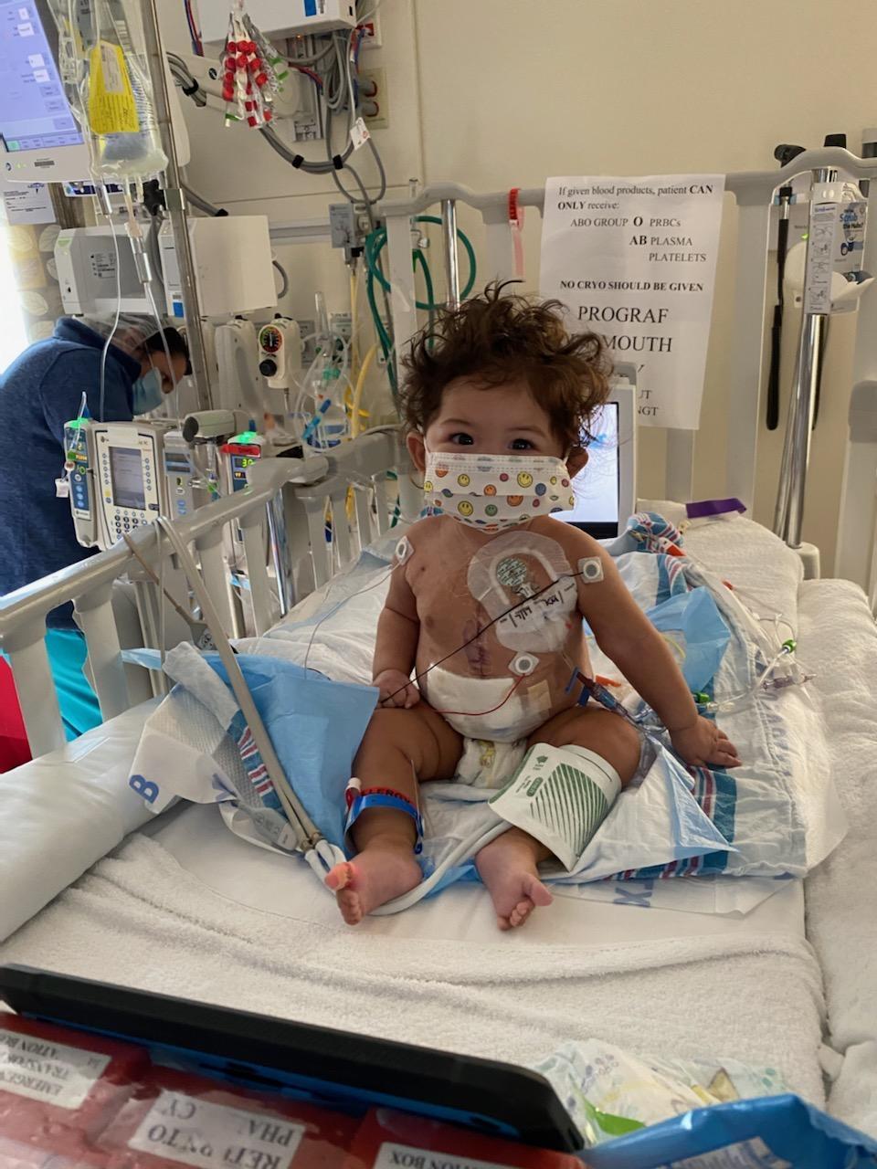 Alexandra en el hospital en Nueva York