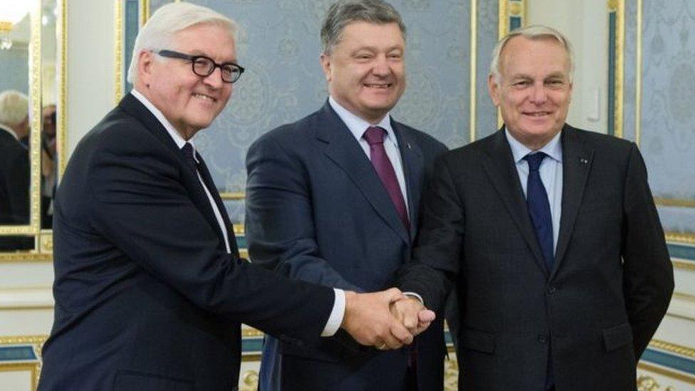 Франк-Вальтер Штайнмаєр та Жан-Марк Еро, приїхавши до Києва у вересні 2016-го, запропонували принципово новий план врегулювання