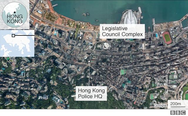 Map of Hong Kong protests