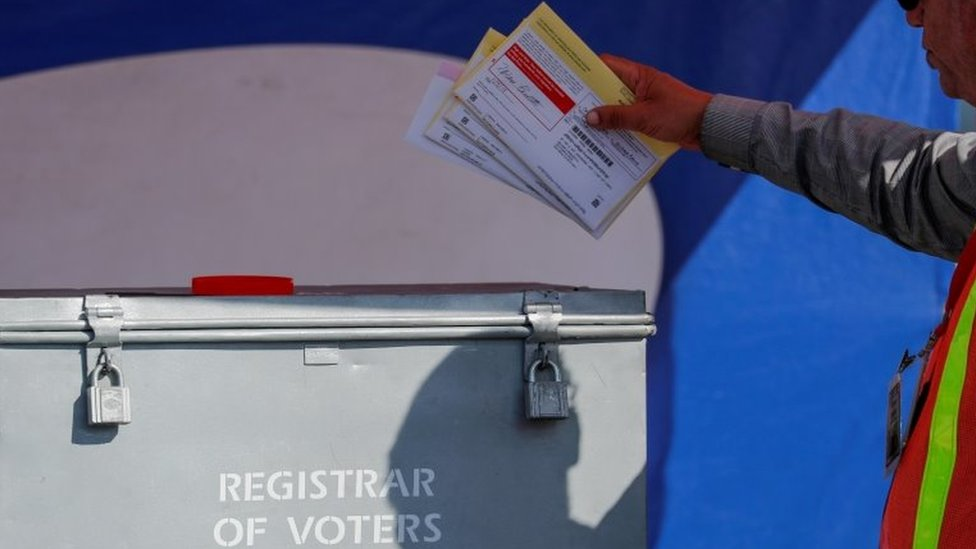 Us Election 2020 Court Allows Texas Postal Vote Restrictions Bbc News