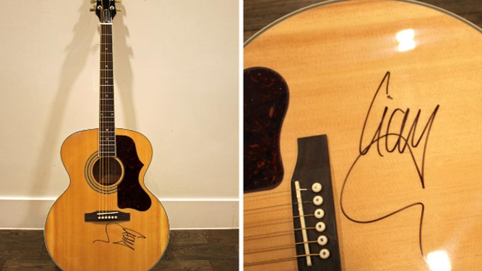 Blind woman's Liam Gallagher guitar stolen