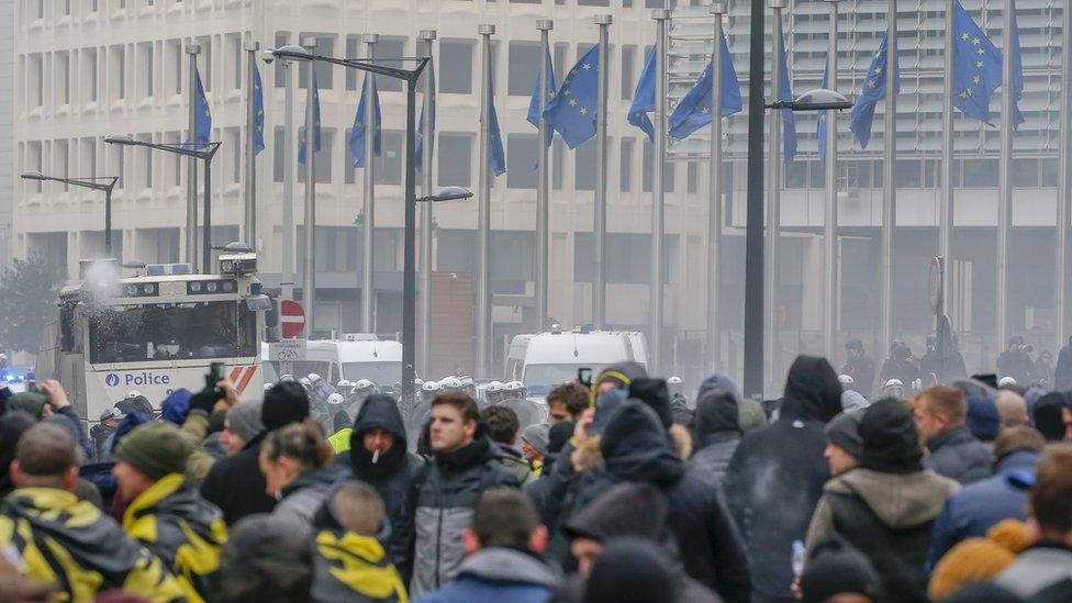 Протестувальники у Брюсселі